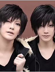 Men's Fashion High Quality Black Short Hair Synthetic Wig