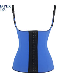 Shaperdiva Women's Latex Waist Trainer Cincher Elastic 9 Steel Boned Corset Faja Body Shaper Girdle