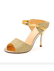 Women's Shoes  Stiletto Heel Heels/Peep Toe Sandals Party & Evening/Casual White/Gold