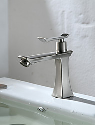 Delta Widespread Single Handle One Hole in Brushed Bathroom Sink Faucet