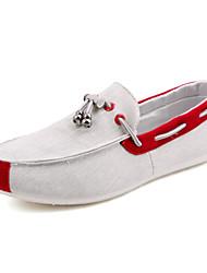 Зеленый Красный Оранжевый-Мужской-Для офиса Повседневный-Полотно-На плоской подошве-Удобная обувь