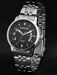 LAGMEEY® Steel Belt Classic Waterproof with Calendar High-grade Quartz Watch