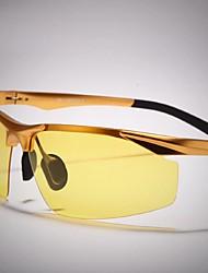 Gafas de Sol hombres's Ligeras Envuelva Plata / Dorado Gafas de visión nocturna / Conducción Media Montura