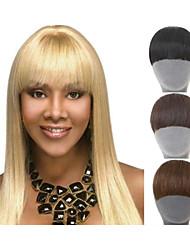 Clip naturale sulla frangia sintetici frangia falsi scoppi di estensione dei capelli per le donne