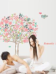 stickers muraux de style de décalcomanies de Wall Mur amour arbre fleur de PVC autocollants