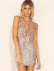 VOINWomen's Sexy/Bodycon/Party Sleeveless Dresses (Sequin)
