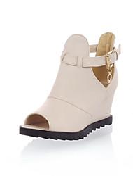 Keilabsatz - High (3 Zoll und mehr) - Damenschuhe - Sandalen ( PU