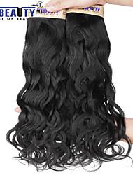 3pcs / lot 6a 12-22inch não transformados peruano onda cabelo virgem natural de 100% extensões de cabelo humano