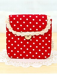 Elegant Ball-points Stylish Multi Color Fabric Cloth Coin Purse (Random Delivery)
