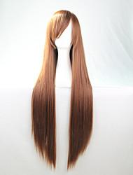 Lattichanimeperücke bunten Perücken braunen langen glatten Haaren Perücke 80 cm