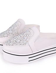 Zapatos de mujer Piel Sintética Tacón Cuña Comfort/Punta Redonda Mocasines Exterior/Casual Blanco