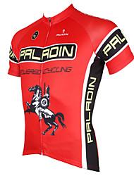 PALADIN® Maillot de Ciclismo Hombres Mangas cortas BicicletaTranspirable / Secado rápido / Resistente a los UV / Compresión / Materiales