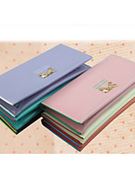 Women Patent Leather Bow Buckle Candy Multi-card PU Hasp Bit Long Thin Wallets Credit Card Holder Ladies Purse