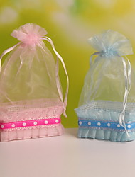 New!!! Basket Shaped Organza Wedding Candy Favor Bags Party Favor Gift Candy Bags Set of 12