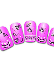 Lovely Lace Grass Cartoon Finger Nail Stickers