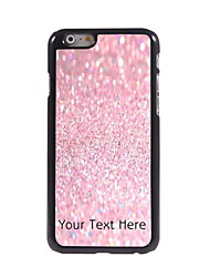 Personalized Gift Pink Sand Design Aluminum Hard Case for iPhone 6 Plus