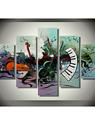Pittura a olio strumento musicale a tema di arte della parete della decorazione della casa pittura moderna opere d'arte 100% dipinto a