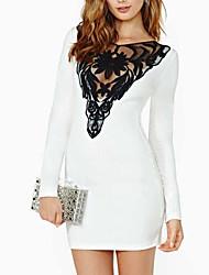 Women's Mini Dress , Others White Sexy