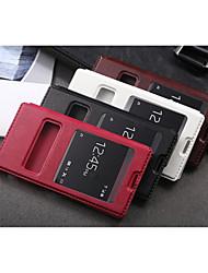международная версия искусственная кожа разработана специально тело открыть окно для Sony Xperia Z3 (ассорти цветов)