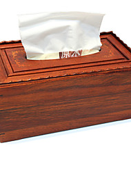 High-Grade mahogany Wood Smoke Sanitary Napkin Box Wooden Carton Creative Tissue Box  Restoring Ancient Ways