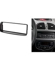 fascia radio de voiture pour peugeot 206 stéréo tableau de bord d'installation kit de façade garniture
