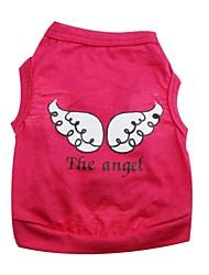 T-shirt-Chien / Chat-Eté-Vert / Incanardin / Violet / Rose-Cosplay Ange et Diable- enCoton