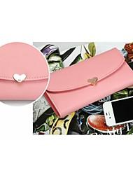2015 New Fashion Cute Love Diamond Cross Pattern Flip Tide Ms. Long Wallet