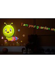 diy ha condotto la luce di controllo interazione notte lampada wallpaper light-caterpillar