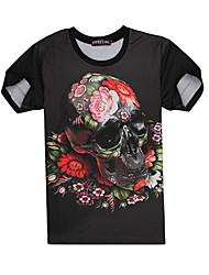 ManGo Men`s Floral Print Causual Fashion Short Sleeve T-shirt
