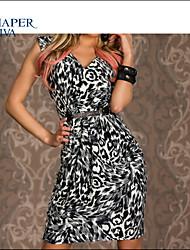 Shaperdiva Women's Free Shipping Leopard Party Dresses