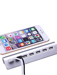 7 ports aluminium Hub USB 2.0 hub portable pour Apple MacBook Pro Mac PC portable bureau portable