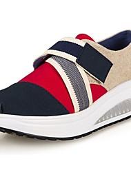 Zapatos de mujer - Tacón Cuña - Plataforma / Zapatos de Cuna - Zapatos de Deporte - Oficina y Trabajo / Casual / Deporte - Tela -Azul /