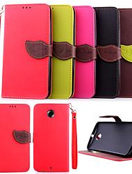 Nexus 6 lanyard Flip Wallet Leaf Stand case for Motorola Google Nexus 6 back cover case PU Leather Cover card slot