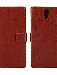 Pour Coque HTC Porte Carte Portefeuille Avec Support Clapet Coque Coque Intégrale Coque Couleur Pleine Dur Cuir PU pour HTC