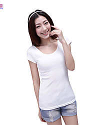 Women Ladies Summer Short Sleeves Korean Slim Tops Shirts Clothes
