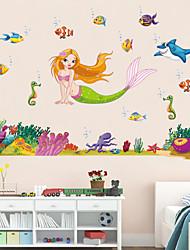 наклейки наклейки для стен стиль наклейки русалка мечта мультфильм ПВХ стены