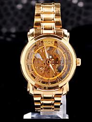 MCE unisex luxo de aço dourado relógio de presente de natal