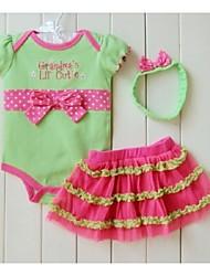 Baby's Children Clothing Set  Romper Headband Skirt Girl  Sports Suits Kids Jumpsuit Newborn Outfits Bodysuit
