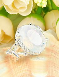 moonstone fogo amigo gem 925 anéis de prata declaração família flor única para festa de casamento 1pc casuais diária