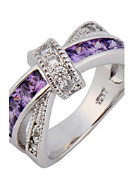 Size 6/7/8/9/10 High Quality Women Purple Sapphire Rings 10KT White Gold Filled Ring
