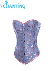 Senchanting Women's Brocade Boned Corset Basque Fancy Showgirl Costume Bustier