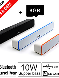 Besteye® 8GB TF Card and G-807 10W HIFI Sound Bar Speakers FM Aux remote control Stereo Bluetooth Speaks Wireless