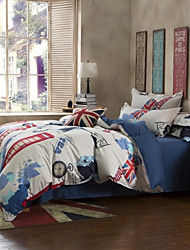 England Style Bedding Set of 4pcs Queen/Twin Telephone booth