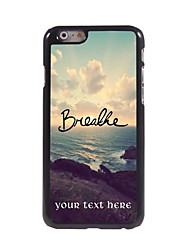 Personalized Gift Breathe Design Aluminum Hard Case for iPhone 6