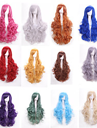 High Quality 80 Cm Long Wavy Synthetic Hair Wigs Synthetic Wig Women Cosplay Wigs Costume Party Wig