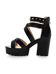 Women's Shoes  Stiletto Heel Gladiator Sandals Dress/Casual Black/White