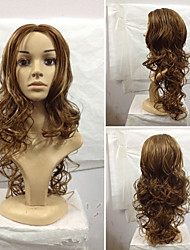 European Style Popular Long Hair Wigs Hair Natural Wave Synthetic Hair Wigs Cosplay Hair Wigs