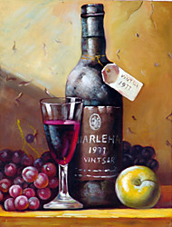 Oil Paintings One Panel Modern Still Life Fruit Hand-painted Canvas Ready to Hang