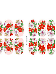 Fashion Flowers Luminous Nail Art Glitter Sticker