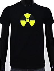 Masculino Camiseta Casual Algodão Masculino